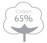 65% cotton