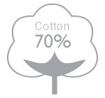 70% cotton