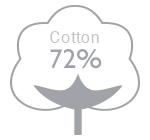 72% cotton