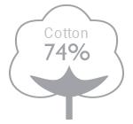 74% cotton
