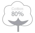 80% cotton