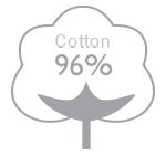 96% cotton