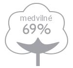 69% medvilne