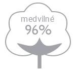 96% medvilne