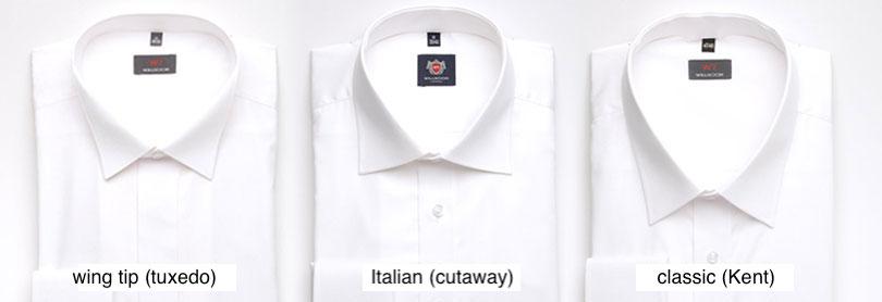 Svatební košile - typ límečků