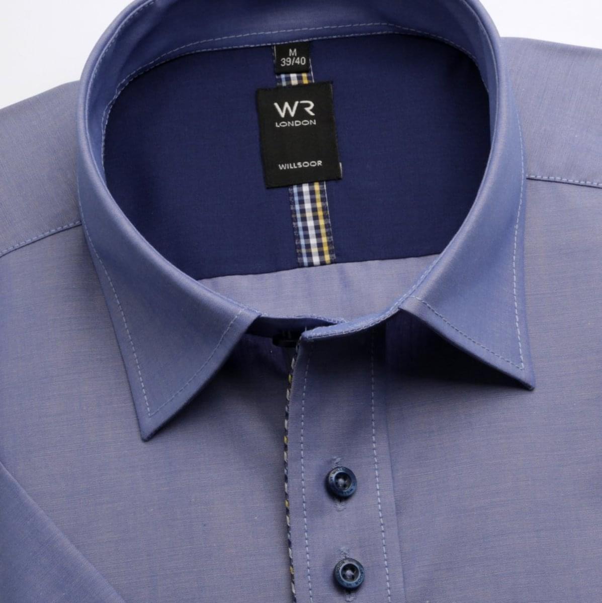 Pánská košile WR London s krátkým rukávem v modré barvě(výška 176-182) 3775