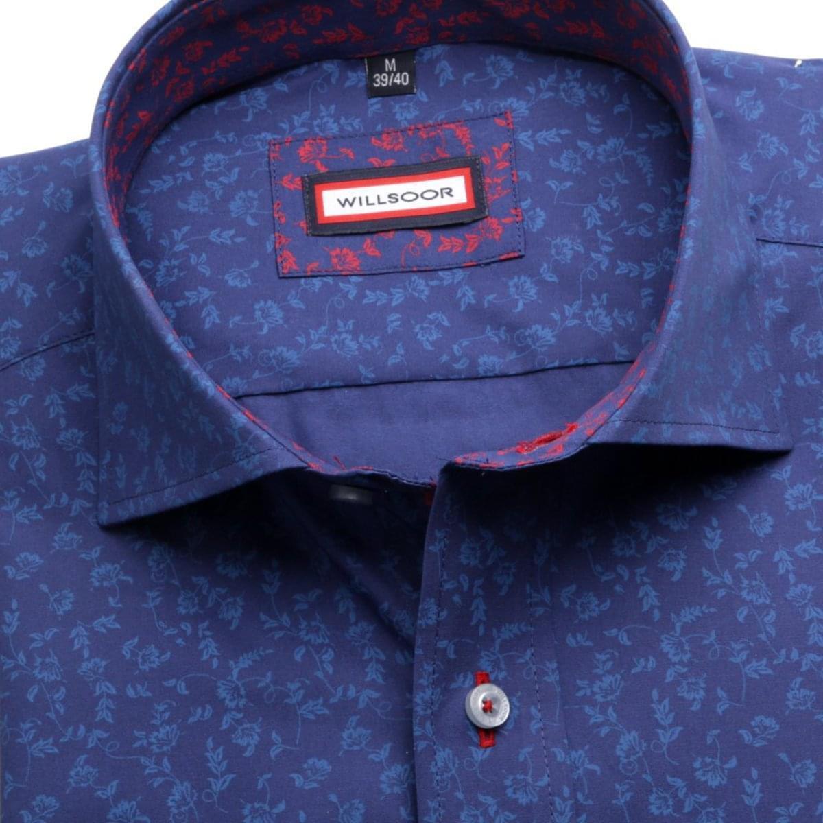 Pánská košile Slim Fit (výška 176-182) 5931 v modré barvě