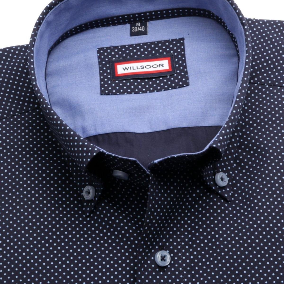 Pánská klasická košile Classic (výška 176-182) 5936 ve tmavě modré barvě