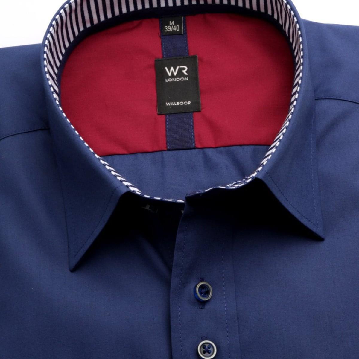 Pánská slim fit košile London (výška 176-182) 6029 v modré barvě s úpravou Easy Care