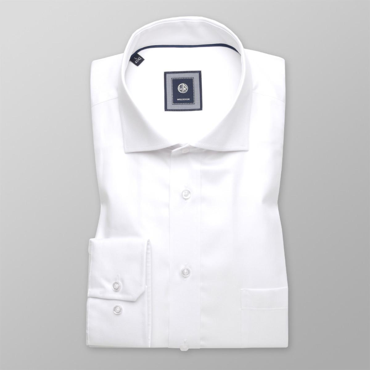 Košile London bílá hladký vzor (výška 176-182 a 188-194) 10215 176-182 / M (39/40)