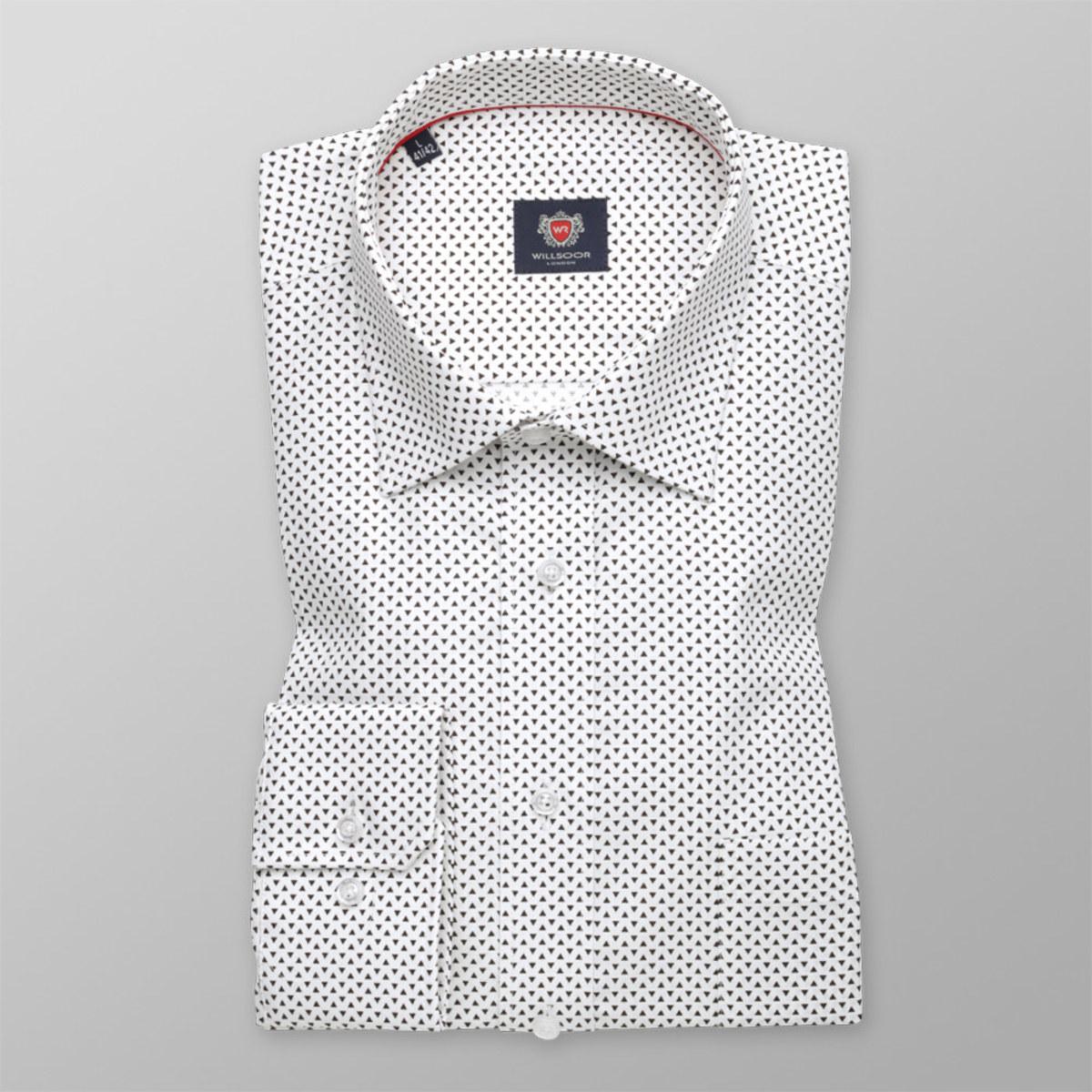 Košile London s potiskem trojúhelníků (výška 176-182) 10227 176-182 / M (39/40)