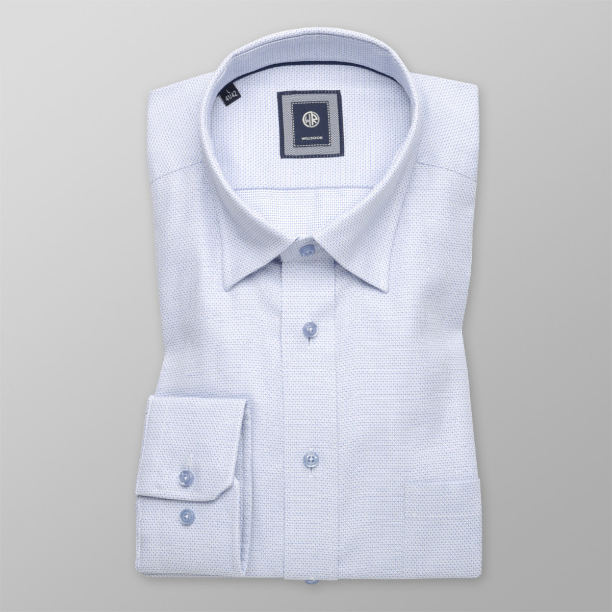 Košile London jemný modrý vzor (výška 176-182) 10233 176-182 / XL (43/44)