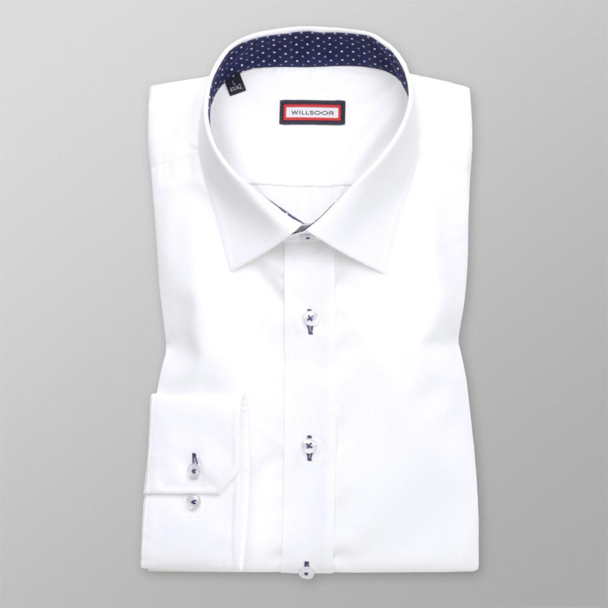 Košile Slim Fit bílé barvy (výška 176-182) 10244 176-182 / M (39/40)