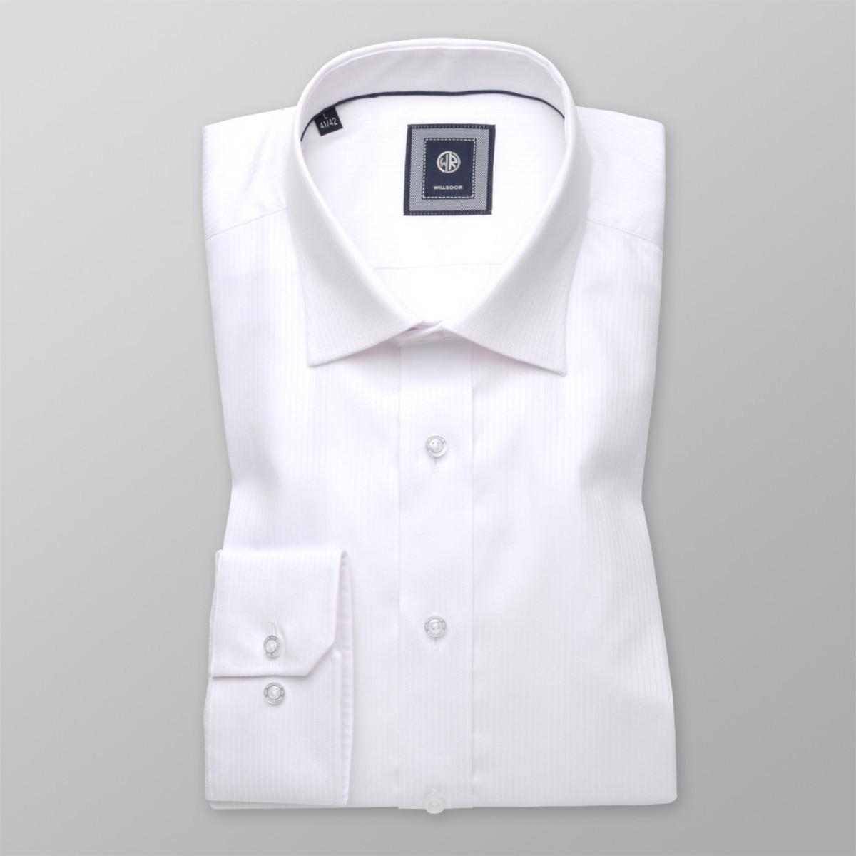 Košile London bílá s jemným vzorem (výška 176-182) 10394 176-182 / M (39/40)