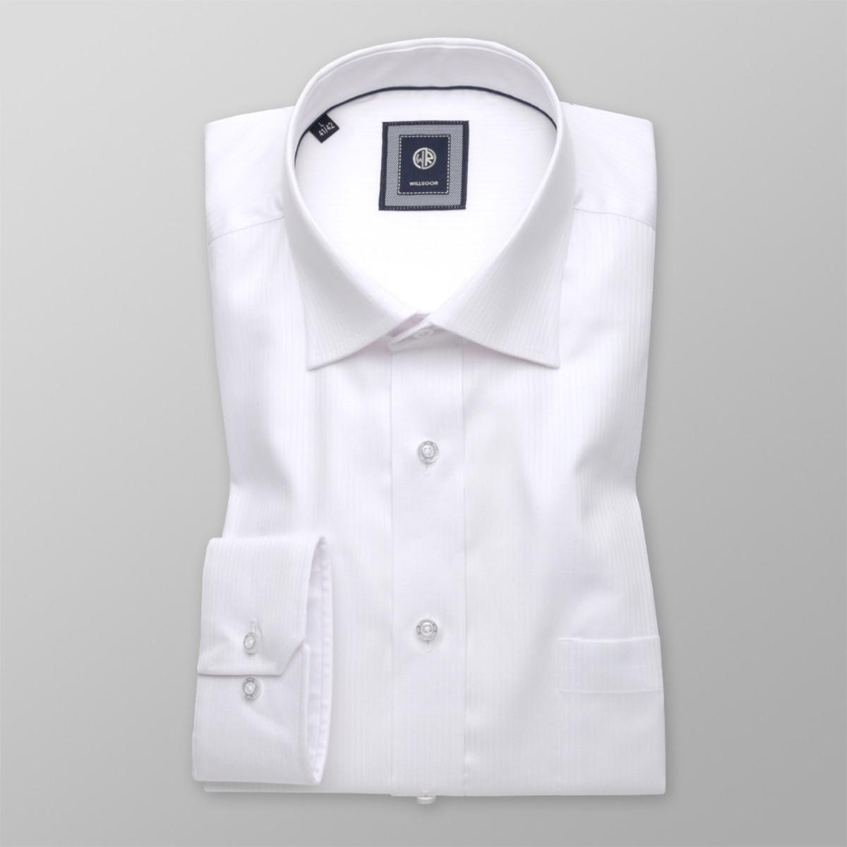 Košile London bílá jemný vzor (výška 176-182) 10395 176-182 / L (41/42)