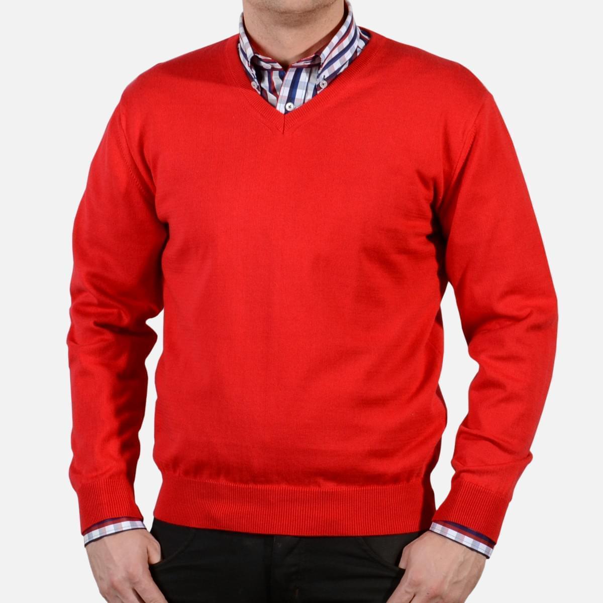 Pánský svetr Willsoor 1723 v červené barvě L