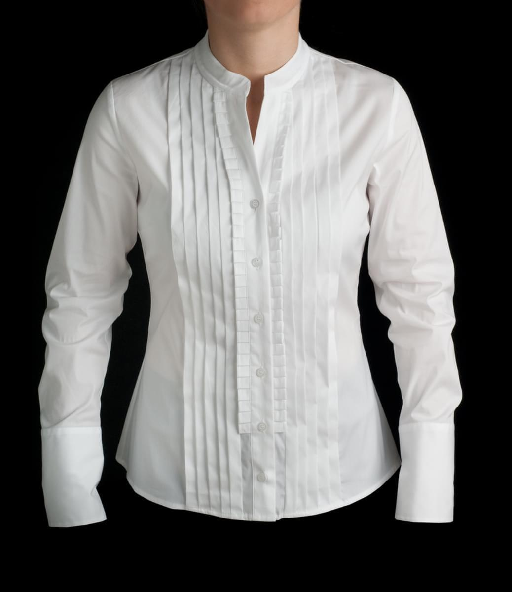 Dámská košile Willsoor 293 v bílé barvě 38