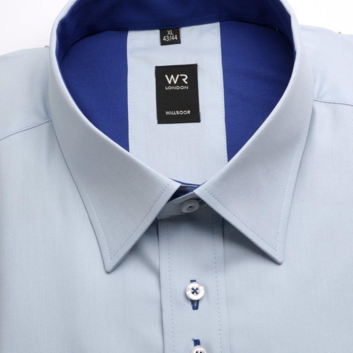 Pánská klasická košile London (výška 188-194)3895 v modré barvě s úpravou easy care 188-194 / XL (43/44)
