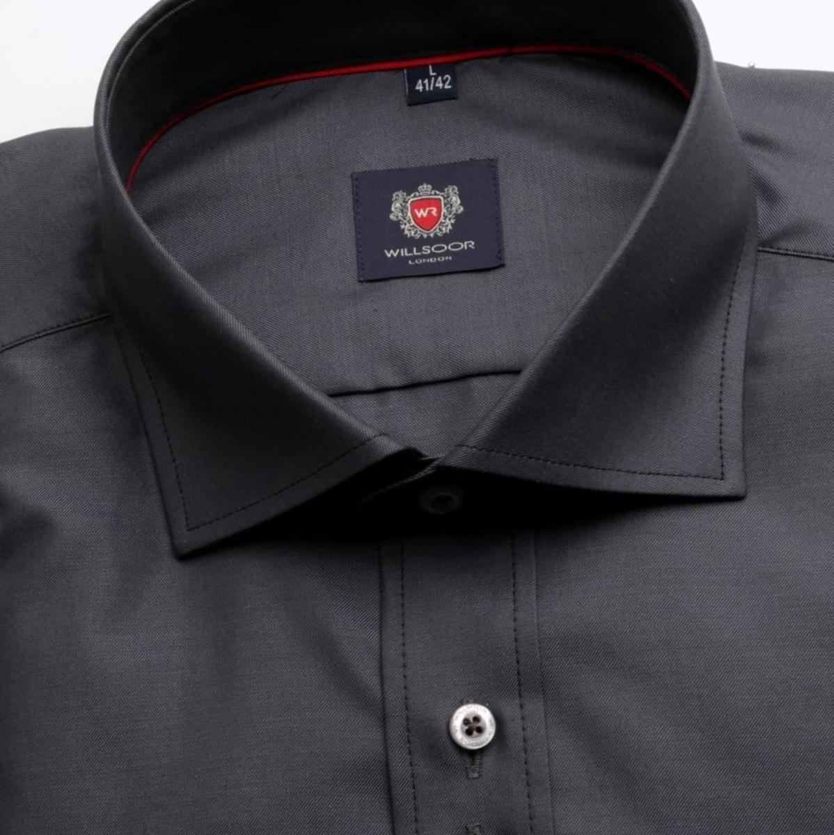 Pánská klasická košile London (výška 176-182) 3944 v grafitové barvě 176-182 / XL (43/44)