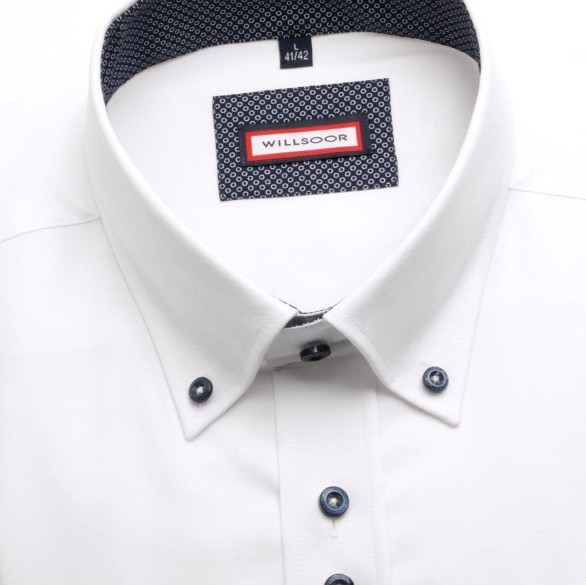 Pánská klasická košile (výška 176-182)4176 v bílé barvě 176-182 / XL (43/44)