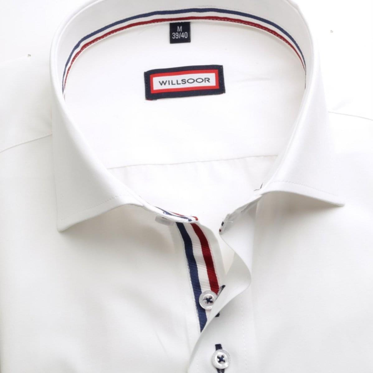 Pánská klasická košile (výška 176-182) 4520 v bílé barvě 176-182 / XL (43/44)