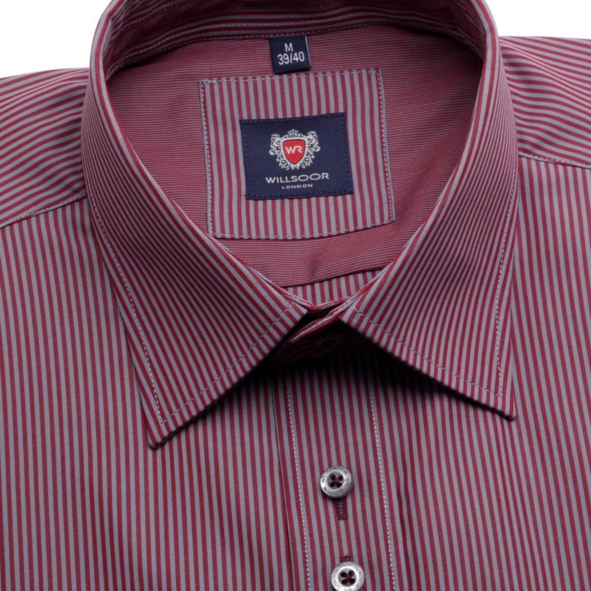 Pánská košile WR London v bordó barvě s proužkem (výška 176-182) 4668 176-182 / XL (43/44) 164-170 / XL (43/44)