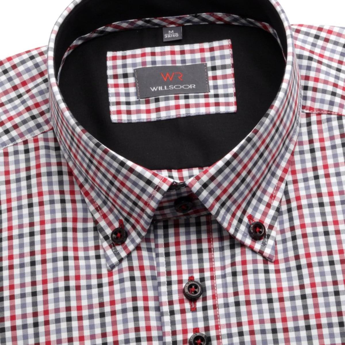 Pánská košile WR Slim v bílé barvě s kostkou Slim Fit (výška 164-170) 4683 164-170 / L (41/42)