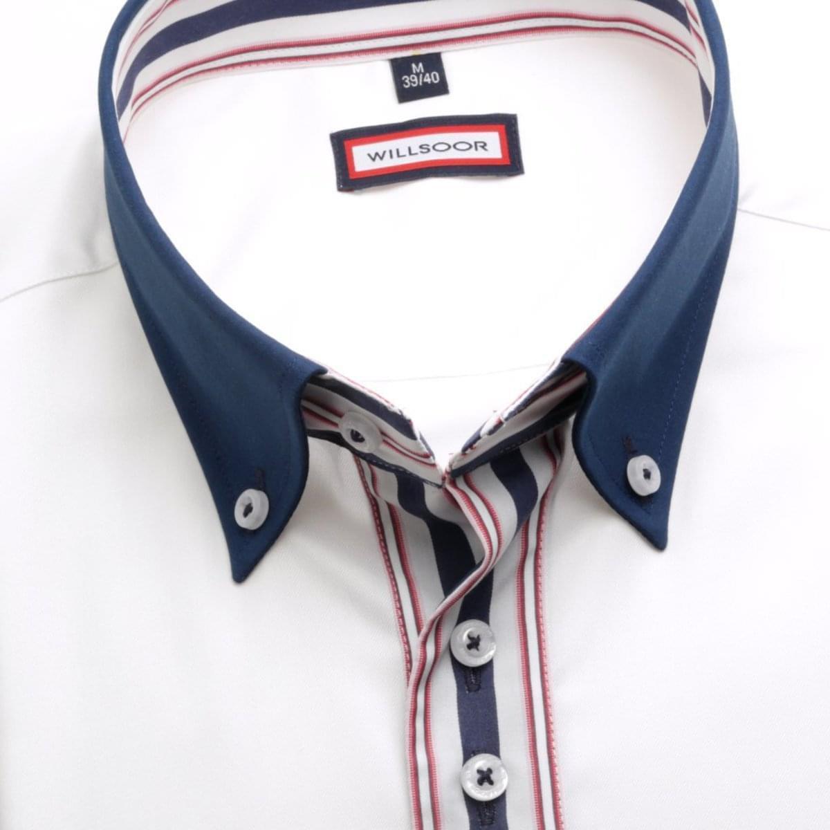 Pánská košile v bílé barvě WR Classic (výška 176-182) 5024 176-182 / L (41/42)