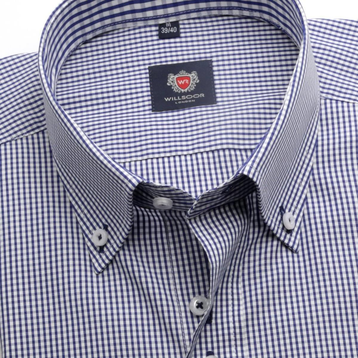 Pánská košile v bílé barvě s drobnou kostkou WR London (výška 198-204) 5108 198-204 / XL (Límeček 43/44)