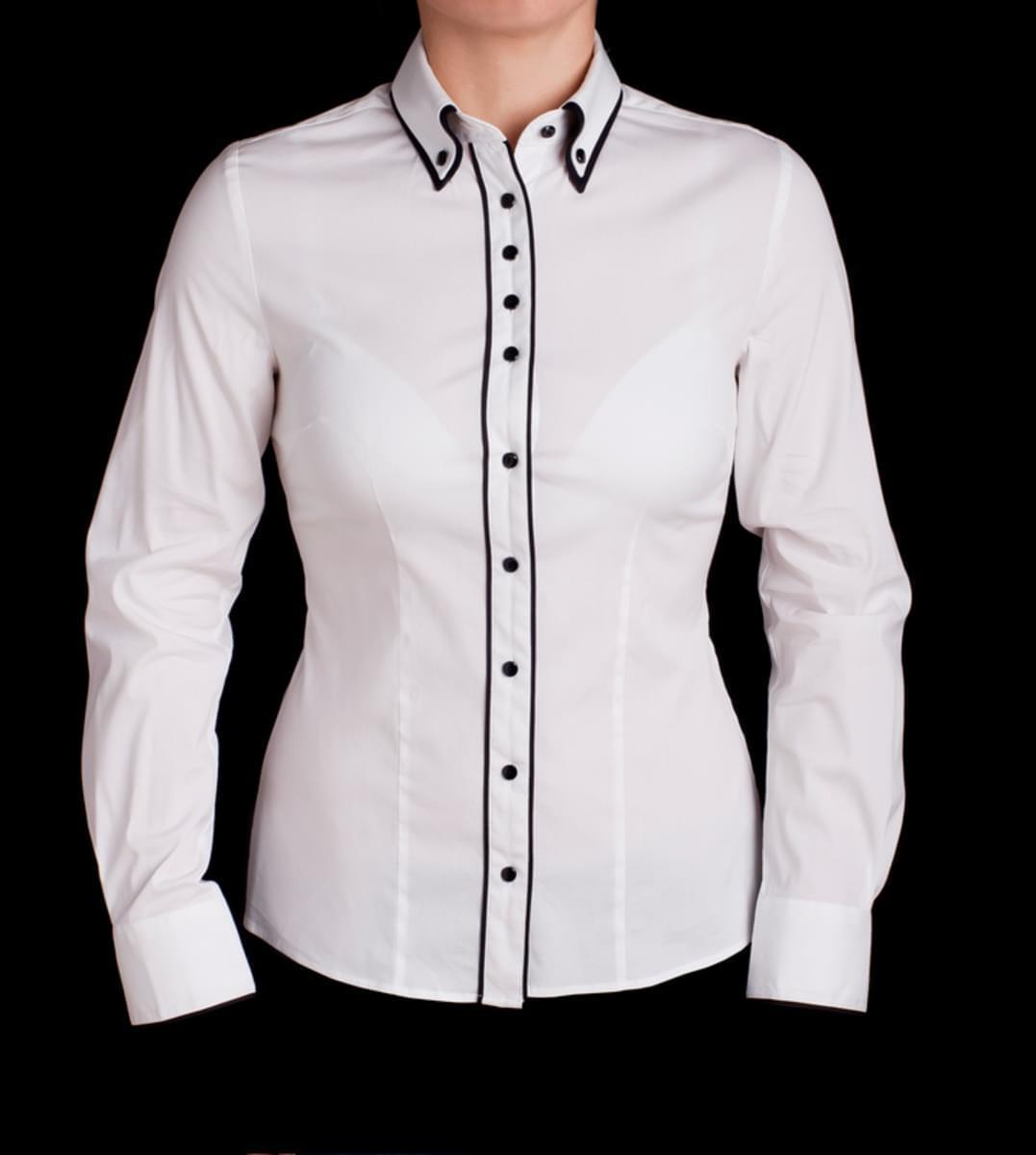 Dámská košile Willsoor 511 v bílé barvě 42