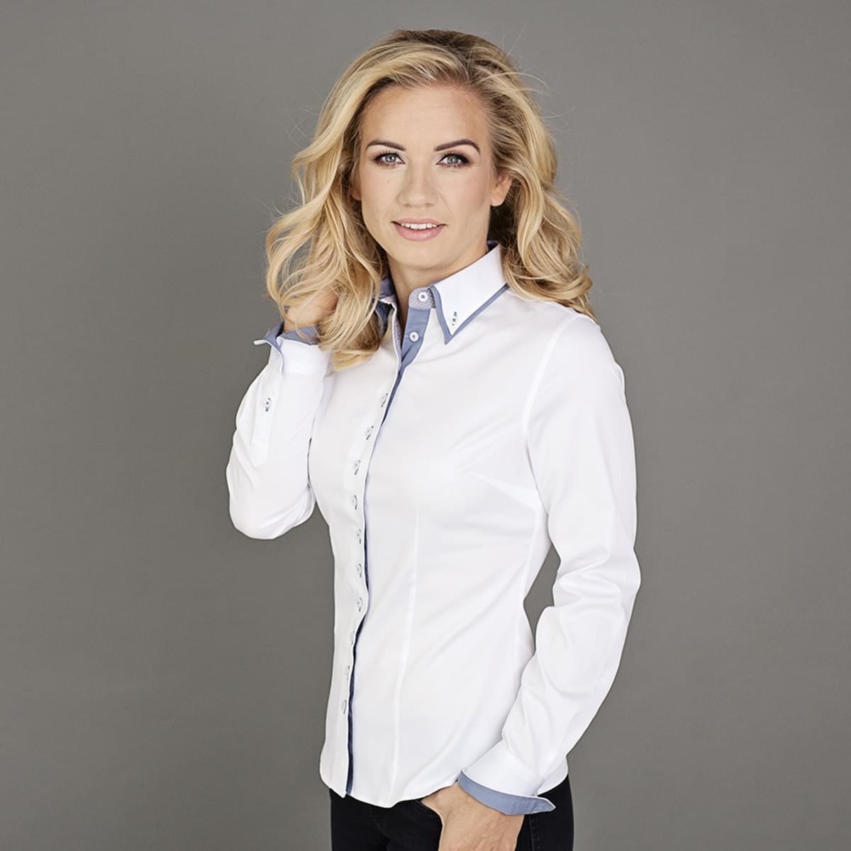 Dámská košile v bílé barvě Willsoor 5136 36