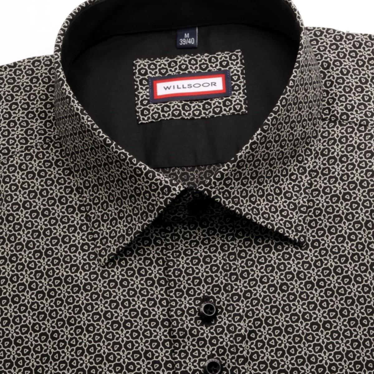 Pánská slim fit košile WR Slim Fit (výška 176-182) 5158 v černé barvě 176-182 / XL (43/44)