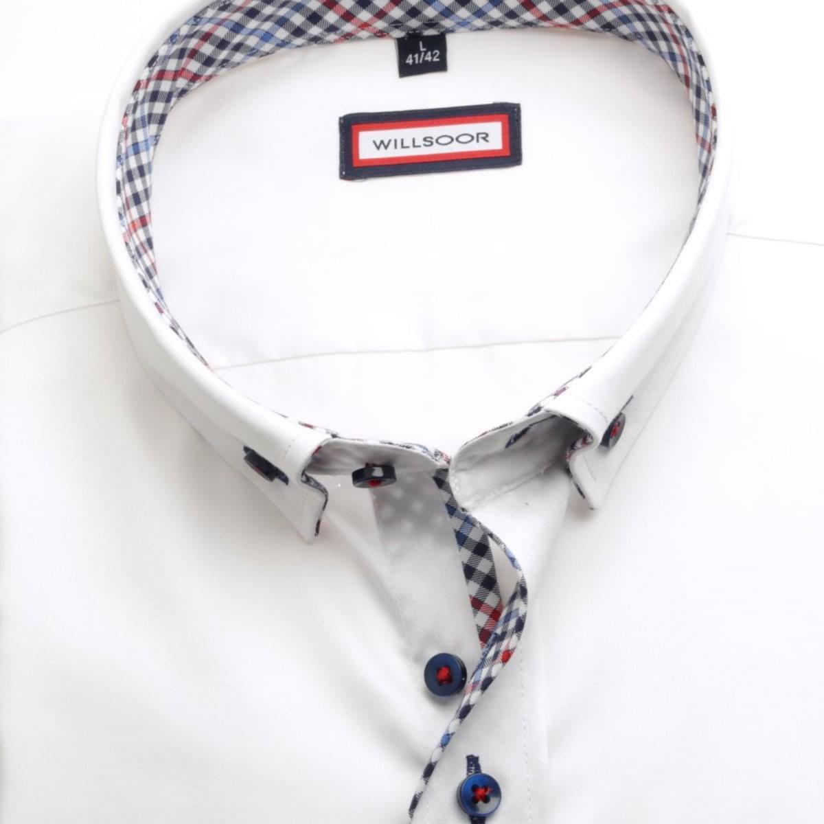 Pánská košile WR Classic v bílé barvě (výška 176-182) 5244 176-182 / XXL (45/46)