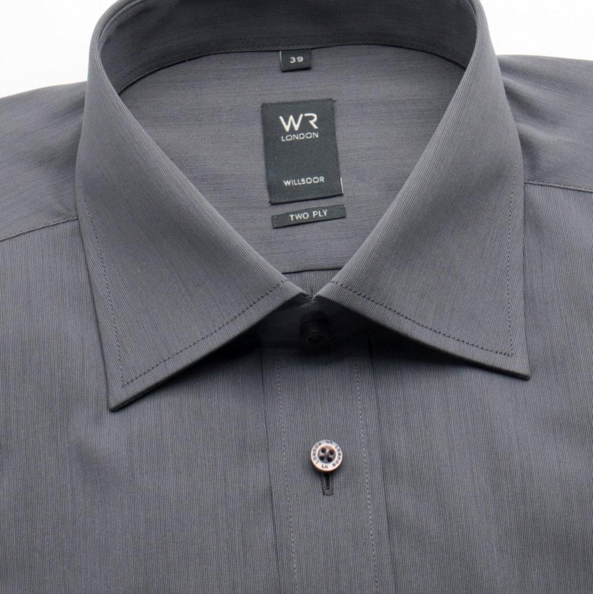 Pánská slim fit košile London (výška 188/194) 526 v grafitové barvě s úpravou splot two-ply 188-194 / 39