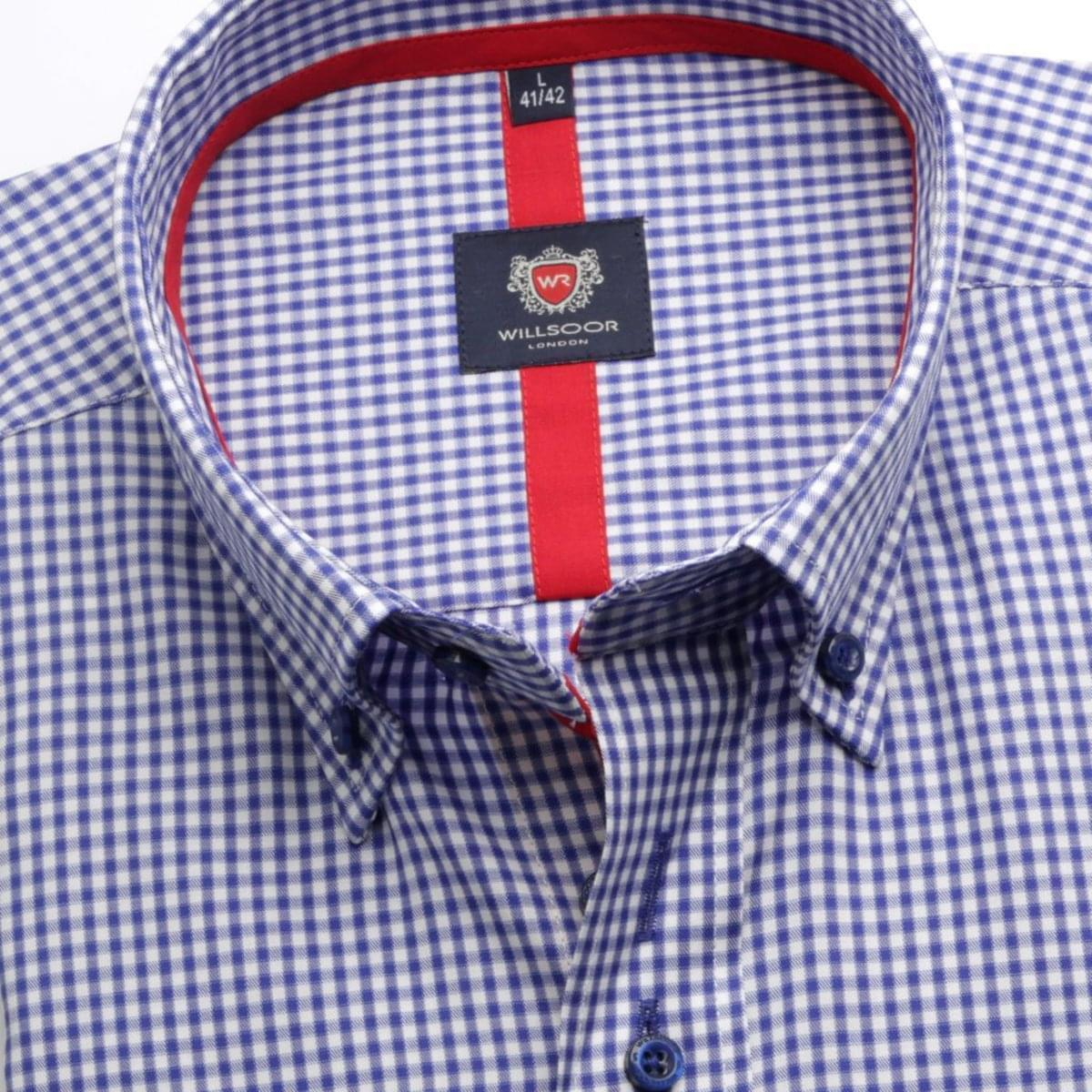 Pánská košile WR Londonv bílé barvě s kostkou (výška 188-194) 5280 188-194 / L (41/42)