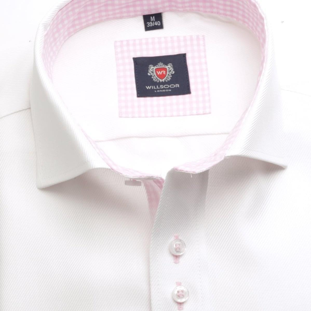 Pánská košile WR London v bílé barvě (výška 176-182) 5287 176-182 / XL (43/44)
