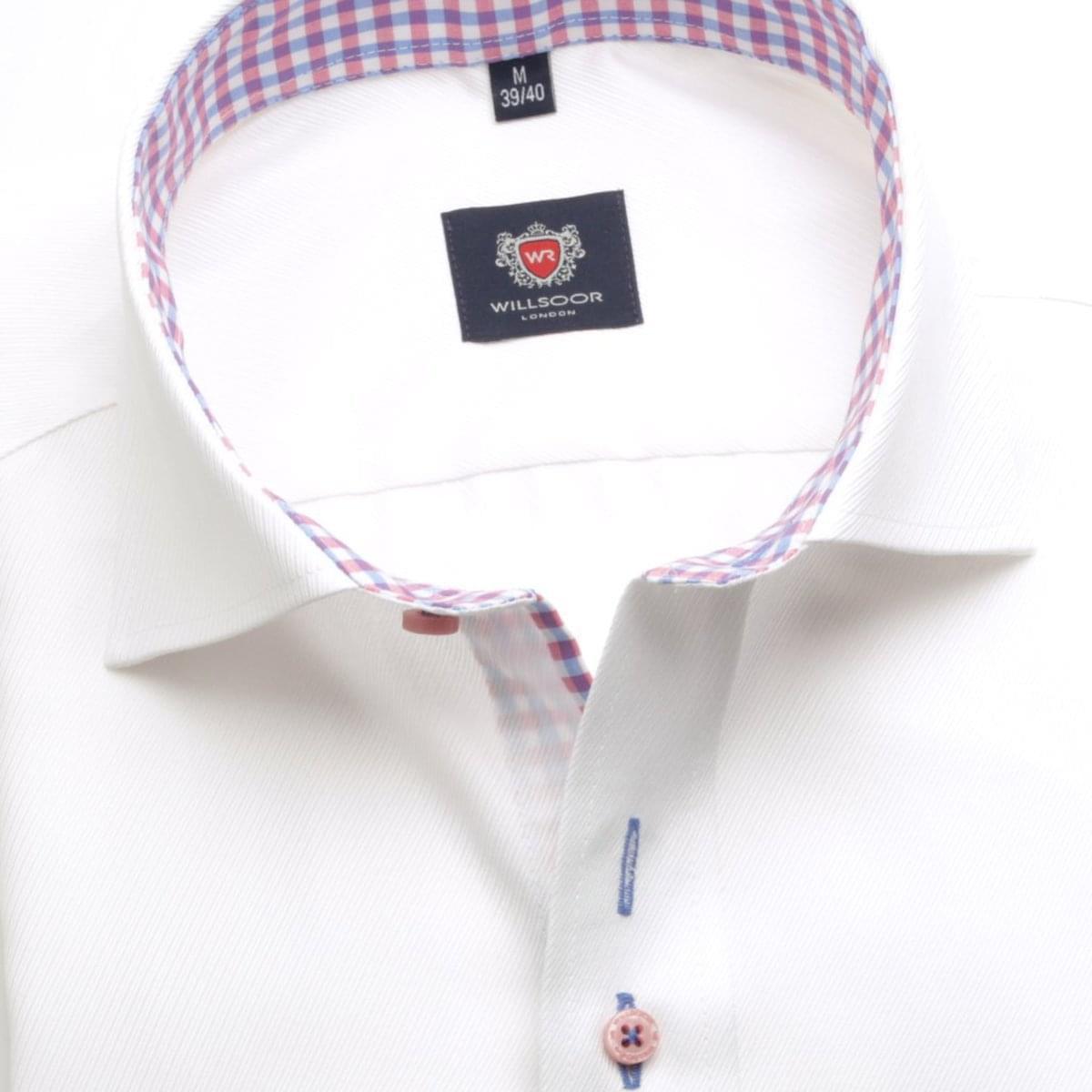 Pánská košile London v bílé barvě (výška 176-182) 5443 176-182 / L (41/42)