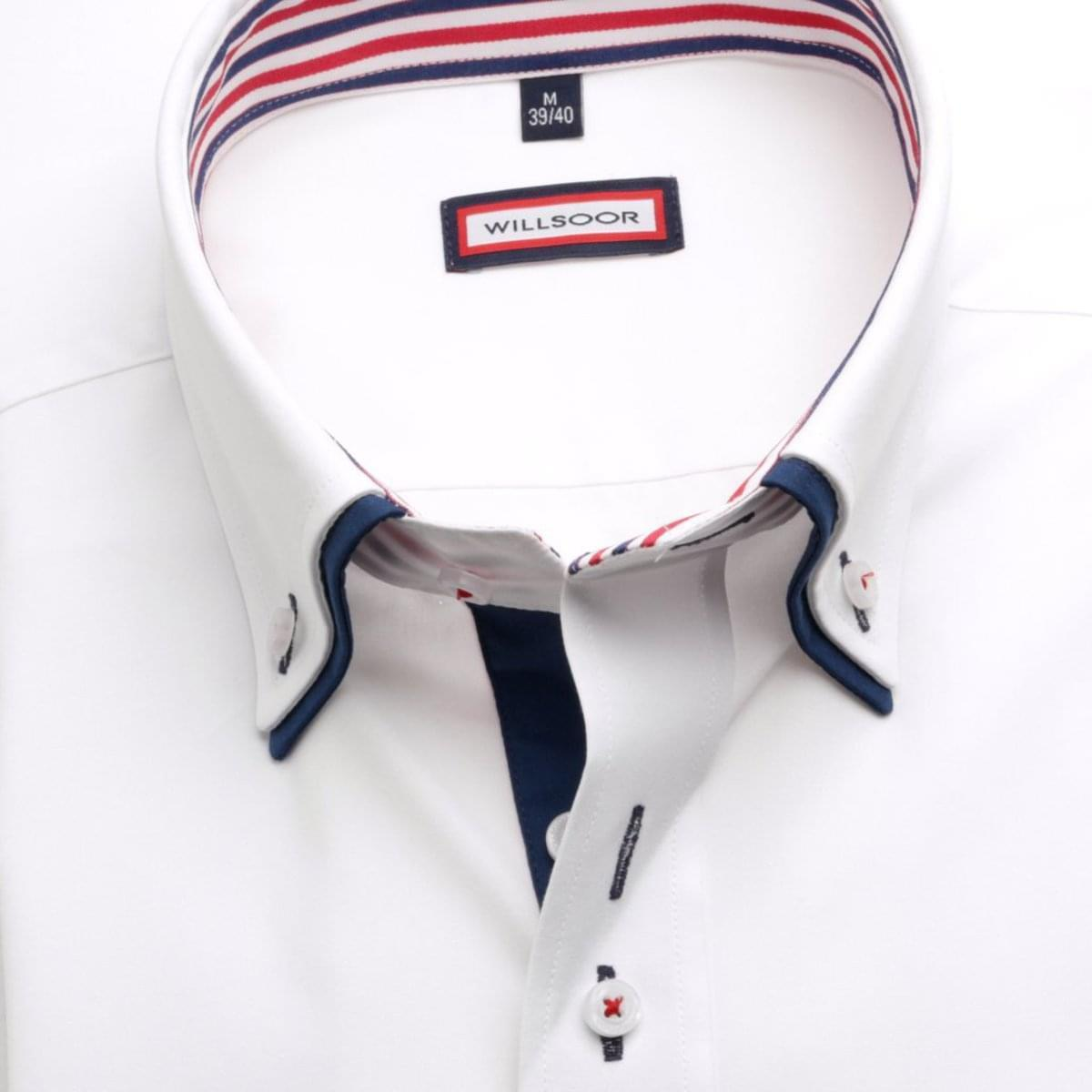 Pánská košile Classic v bílé barvě (výška 164-170) 5462 176-182 / L (41/42)