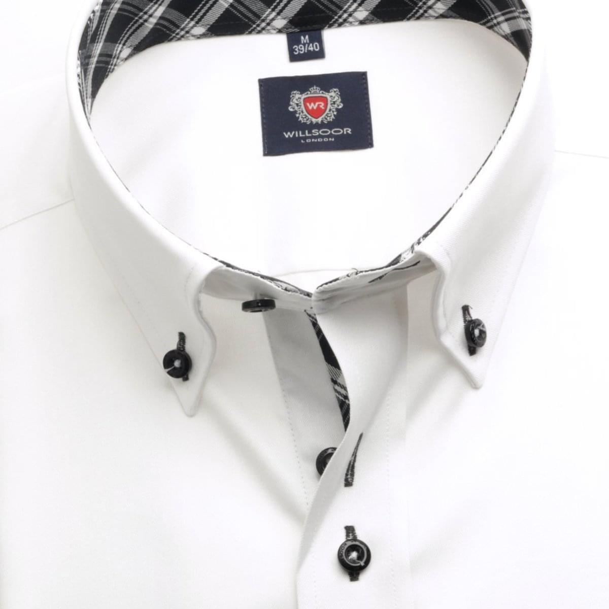 Pánská košile London (výška 176-182) 5472 v bílé barvě 176-182 / L (41/42)