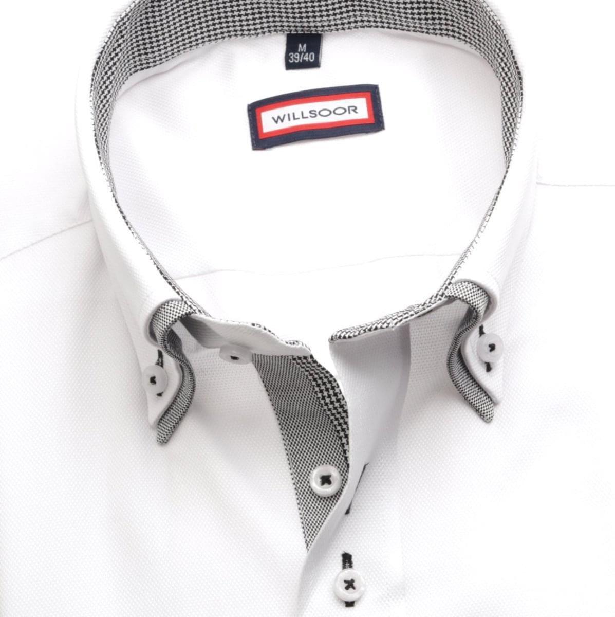 Pánská košile Classic v bílé barvě (výška 176-182) 5491 176-182 / L (41/42)