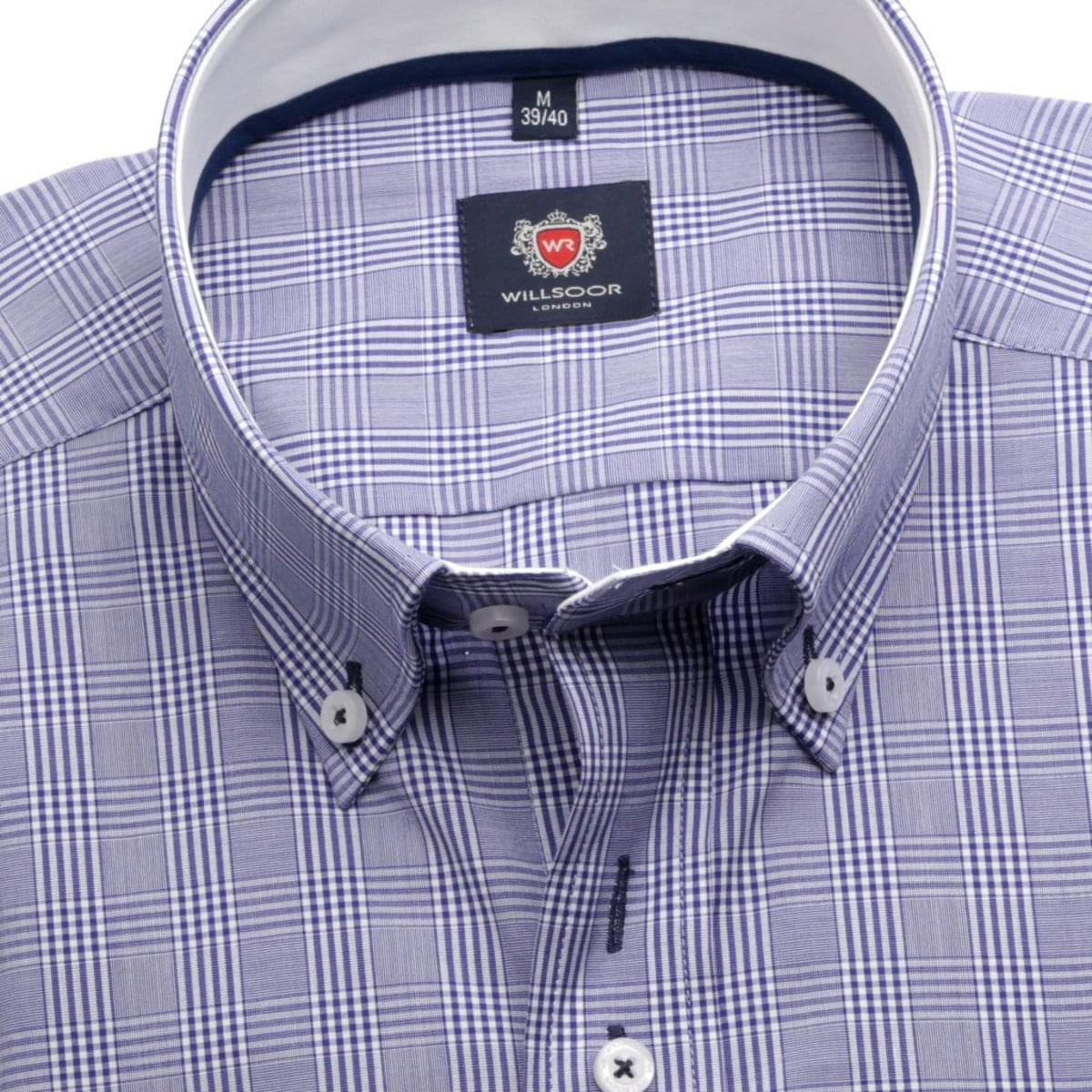 Pánská košile London ve fialkové barvě (výška 176-182) 5493 176-182 / XL (43/44)