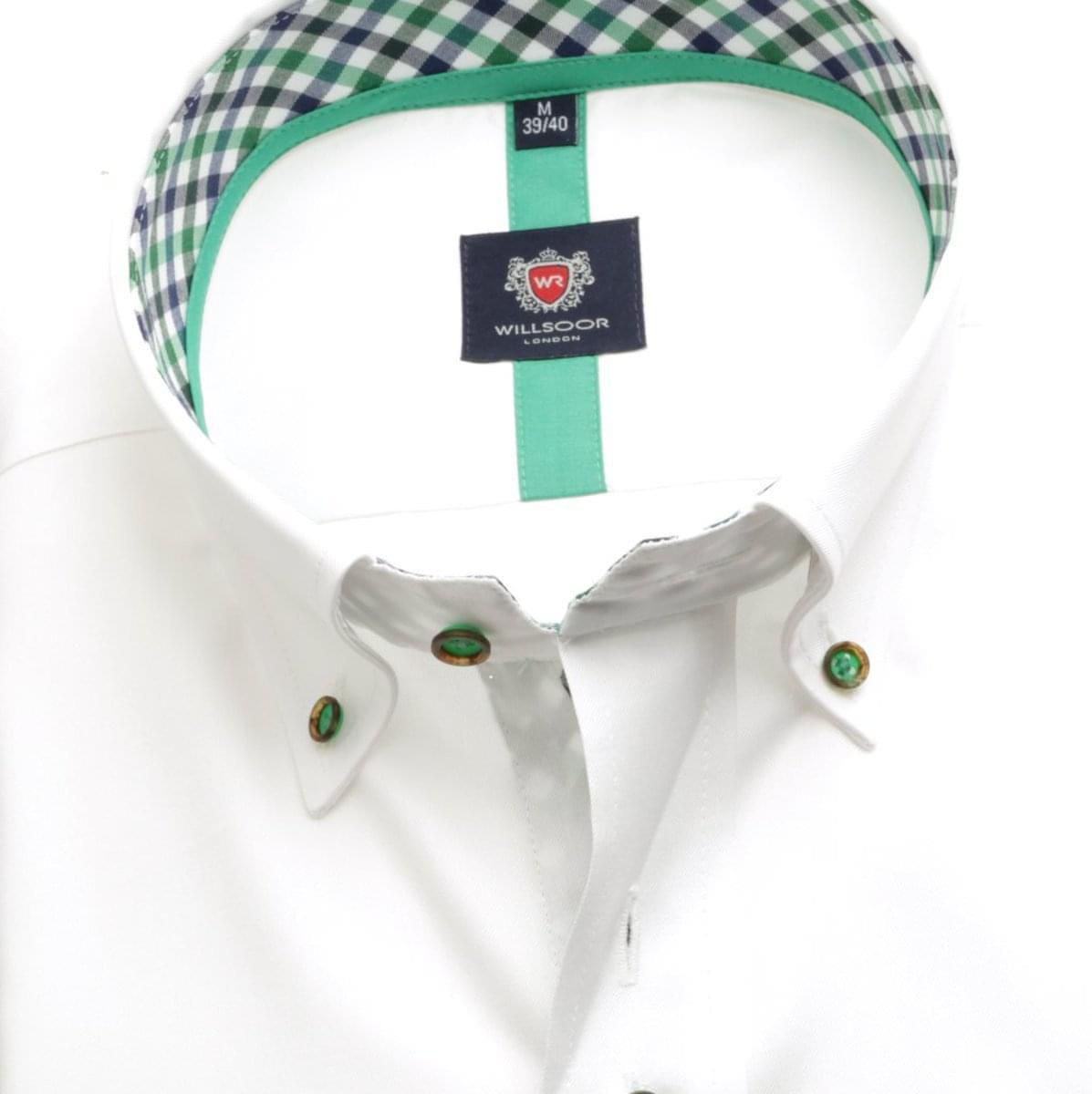 Pánská košile London v bílé barvě (výška 176-182) 5499 176-182 / L (41/42)