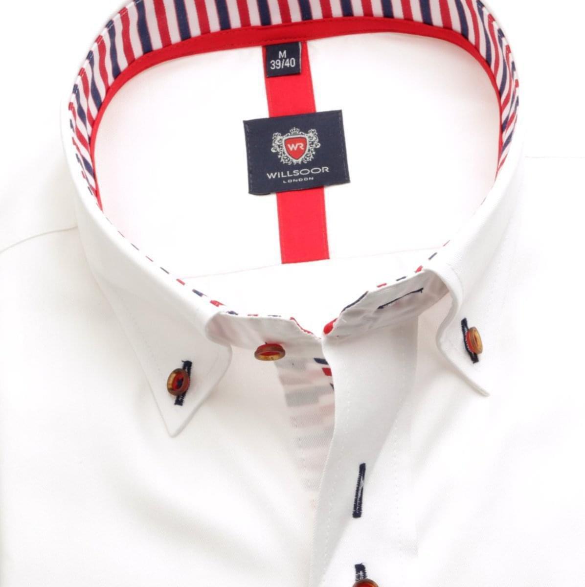 Pánská košile London v bílé barvě (výška 176-182) 5501 176-182 / L (41/42)