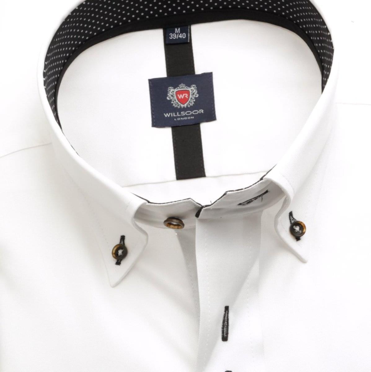 Pánská košile London v bílé barvě (výška 176-182) 5503 176-182 / M (39/40)