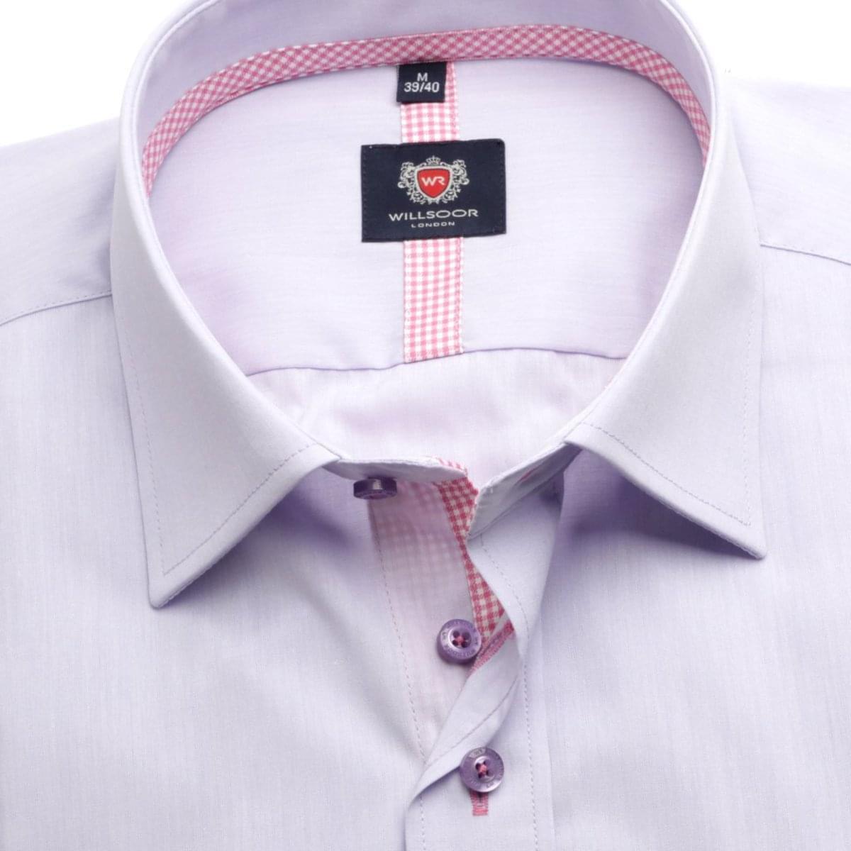 Pánská košile London v fialkové barvě (výška 164-170) 5513 164-170 / XL (43/44)