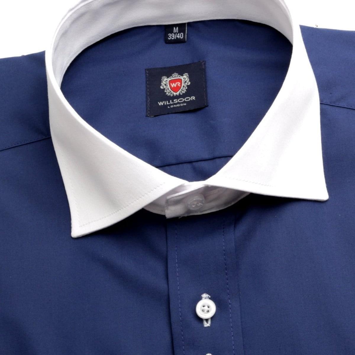 Pánská košile London v modré barvě (výška 188-194) 5520 188-194 / XL (43/44)