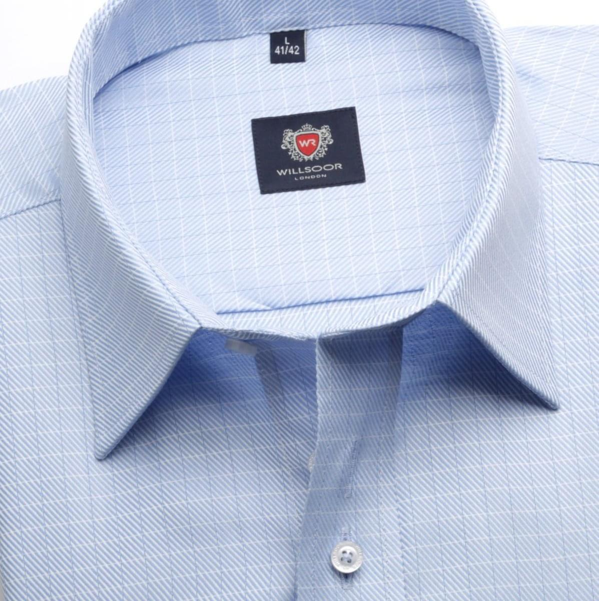 Pánská košile London v modré barvě (výška 176-182) 5557 176-182 / XL (43/44)