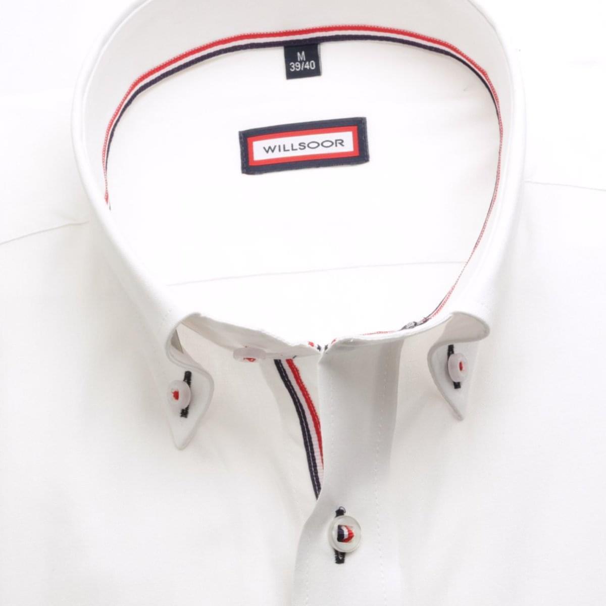 Pánská košile Slim Fit v bílé barvě (výška 176-182) 5561 176-182 / XL (43/44)
