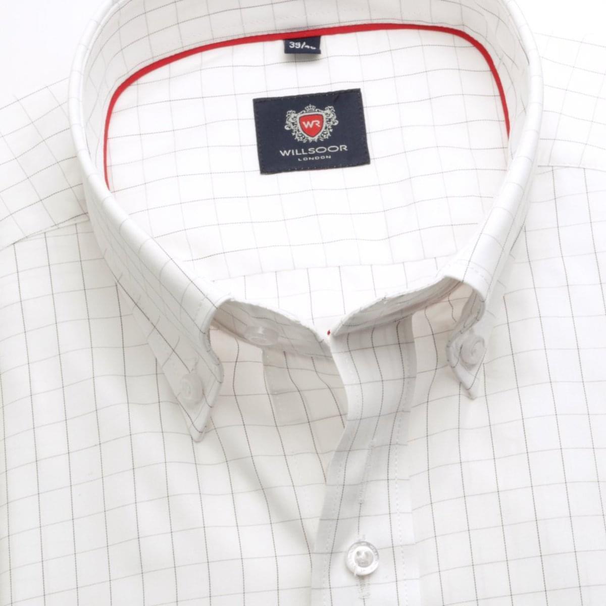 Pánská košile London v bílé barvě s kostkou (výška 176-182) 5593 176-182 / XL (43/44)