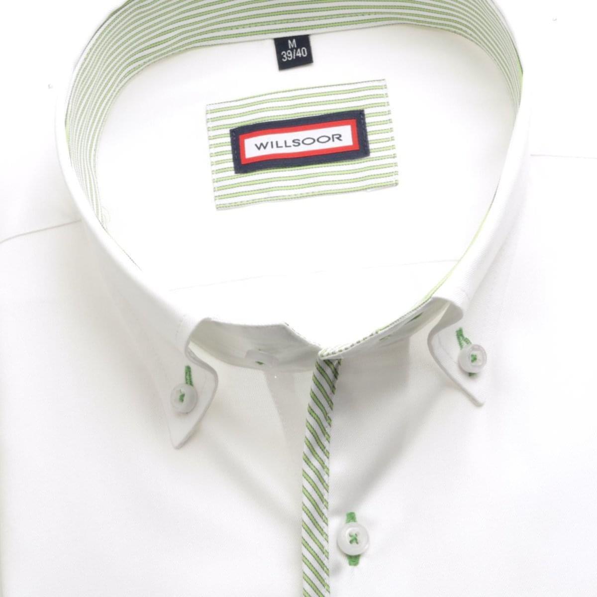 Pánská košile Slim Fit (výška 176-182) 5623 v bílé barvě s formulí Easy Care 176-182 / XL (43/44)